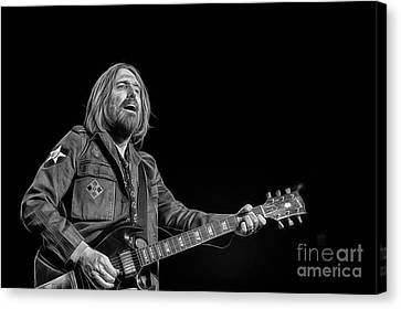 Tom Petty Collection Canvas Print by Marvin Blaine