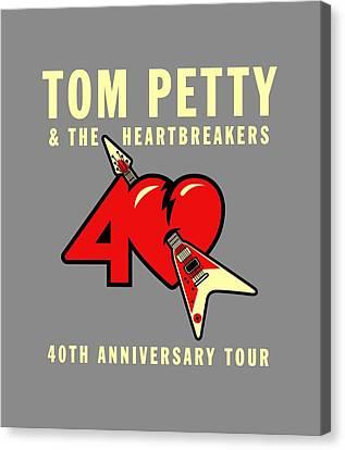 Heartbreaker Canvas Print - Tom Petty by Ming Chandra