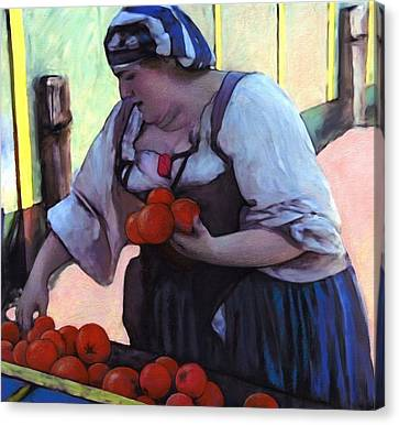 Tomatoe Lady Canvas Print by Snake Jagger