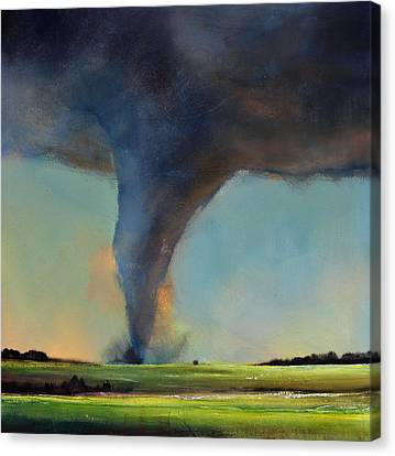 Tornado On The Move Canvas Print by Toni Grote
