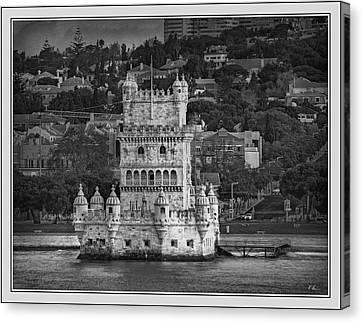 Torre De Belem B. W. Canvas Print by Hanny Heim