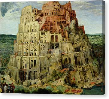 Tower Of Babel Canvas Print by Pieter the Elder Bruegel