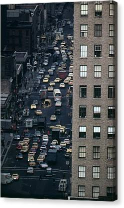 Traffic In New York City. View Canvas Print by Everett