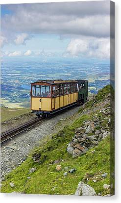 Canvas Print featuring the photograph Train To Snowdon by Ian Mitchell