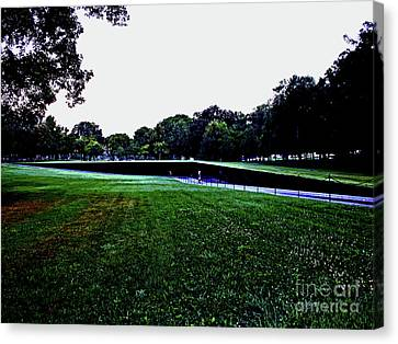 Tranquility At Sunrise  Vietnam Memorial Canvas Print