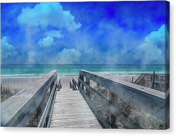 Topsail Island Canvas Print - Tranquility by Betsy Knapp