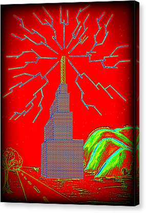 Transmission Tower Canvas Print by Colin Clayton