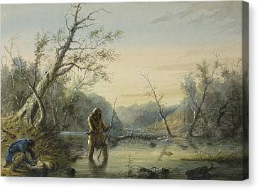 Trapping Beaver Canvas Print