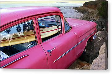 Treasure In The Chevy Canvas Print by Ron Regalado