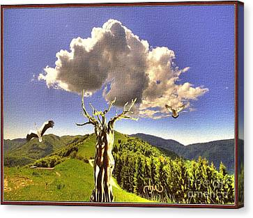 Autumn Scene Canvas Print - Tree Blossom 1 by Pemaro