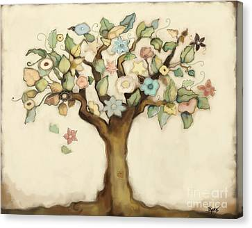 Tree Of Life And Love Canvas Print