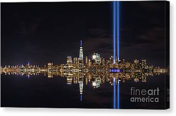 Tribute In Light Reflections  Canvas Print by Michael Ver Sprill