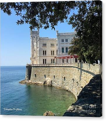 Trieste Miramare Castle Canvas Print by Italian Art