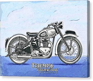 Triumph Tiger 100 Canvas Print