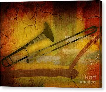 Trombone Collection Canvas Print by Marvin Blaine