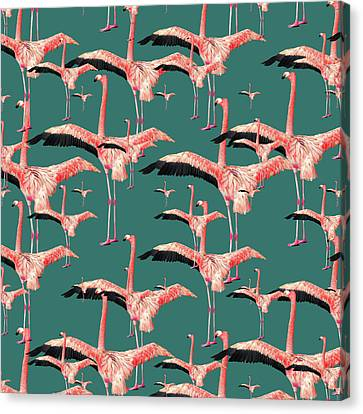 Tropical Flamingo  Canvas Print by Mark Ashkenazi