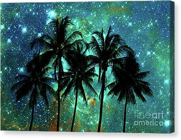 Canvas Print featuring the photograph Tropical Night by Delphimages Photo Creations
