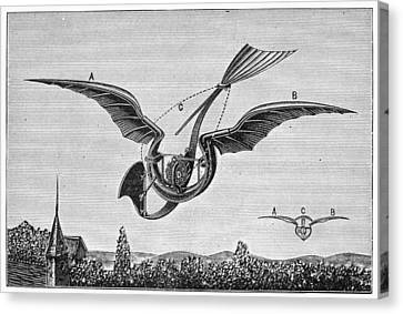 Trouv�s Ornithopter Canvas Print by Granger