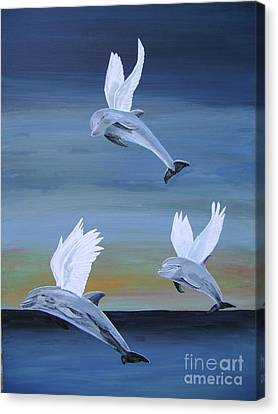 Canvas Print featuring the painting True Angels by Eric Kempson