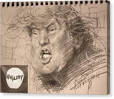 Hillary Clinton Canvas Print - Trump by Ylli Haruni
