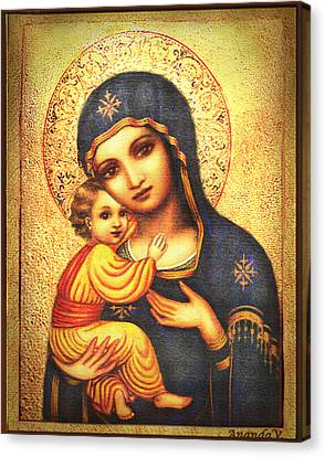 Tryptichon Madonna Canvas Print by Ananda Vdovic