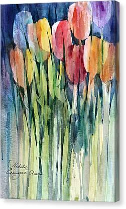 Tulips Canvas Print by Natalia Eremeyeva Duarte