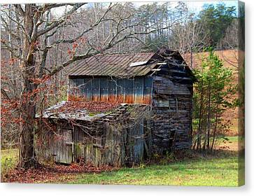 Tumbledown Barn Canvas Print by Kathryn Meyer