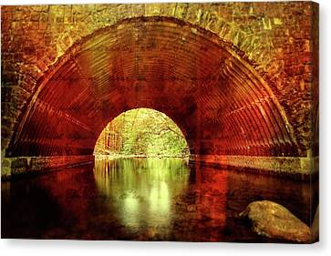 Canvas Print featuring the photograph Tunnel Vision by Alan Raasch
