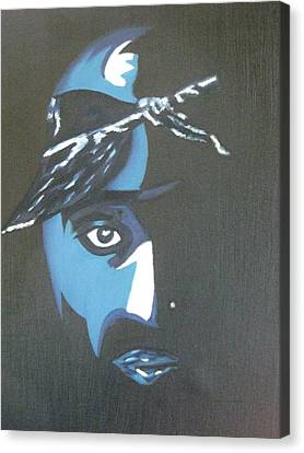 Tupac Canvas Print by James Dolan
