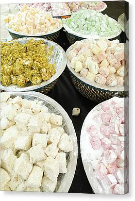 Turkish Sweets Canvas Print by Tom Gowanlock