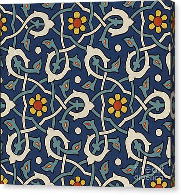 Turkish Textile Pattern Canvas Print by Turkish School