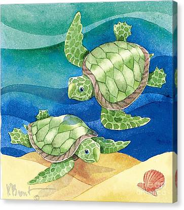 Turtle Friend Canvas Print by Paul Brent