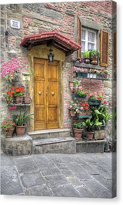 Tuscan Entrance Cortona Canvas Print