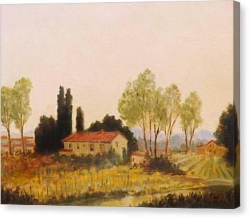 Tuscan Farmland Canvas Print by David Olander