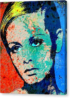 Twiggy-2 Canvas Print by Otis Porritt