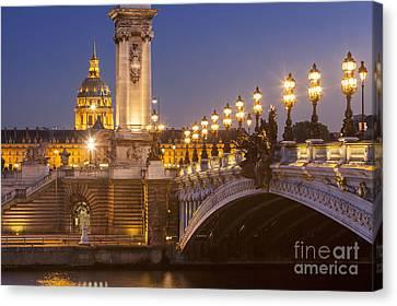 Twilight - Pont Alexandre IIi Canvas Print by Brian Jannsen
