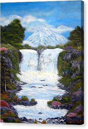 Twin Falls Canvas Print by Allison Prior