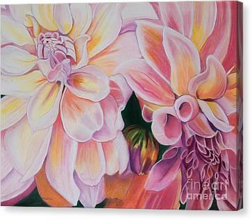 Two Dahlias Canvas Print by Lucinda  Hansen
