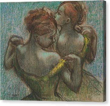 Half-length Canvas Print - Two Dancers, Half-length by Edgar Degas