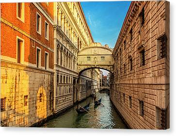 Canvas Print featuring the photograph Two Gondolas by Andrew Soundarajan