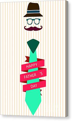 Typography Poster - Happy Father's Day Canvas Print
