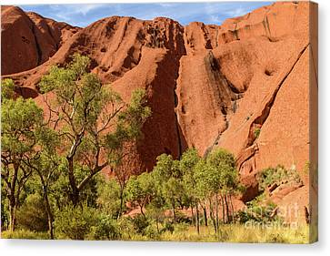 Canvas Print featuring the photograph Uluru 07 by Werner Padarin