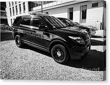 umass university campus police patrol vehicle Boston USA Canvas Print