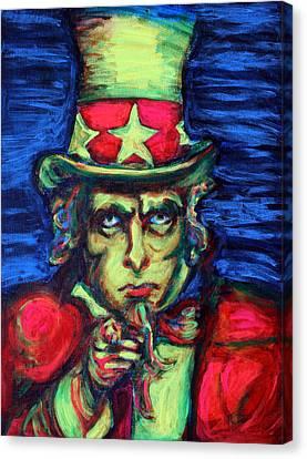 Uncle Sam Canvas Print by Hannah Curran