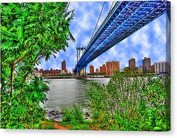Under The Bridge Canvas Print by Randy Aveille