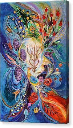 Under The Light Of Menorah Canvas Print