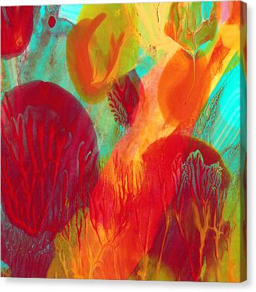Under The Sea Abstract 2 Canvas Print by Amy Vangsgard