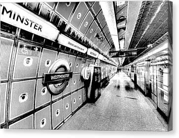 Underground London Art Canvas Print