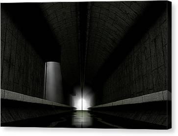 Underground Sewer Canvas Print