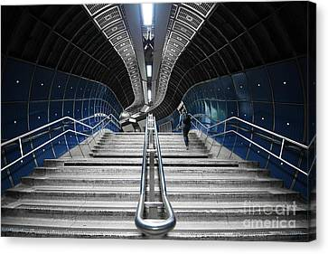 Underground Stair Canvas Print by Svetlana Sewell